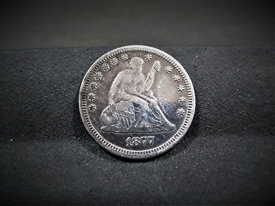 1877 Seated Liberty Quarter - Fine Details - I Combine Shipping