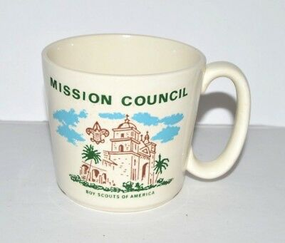BSA VTG Coffee Cup Mug Boy Scouts Mission Council Building Scouting Troop Lead