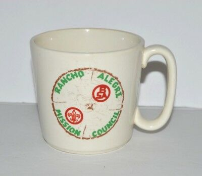 BSA VTG Coffee Cup Mug Boy Scouts Rancho Alegre Mission Cncl Scouting Troop Lead