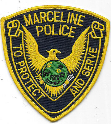 "Police Patch: Marceline Police Missouri, Mi Measures 4"" X 4"""