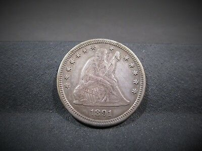 1891-S Seated Liberty Quarter - Vf Details - I Combine Shipping