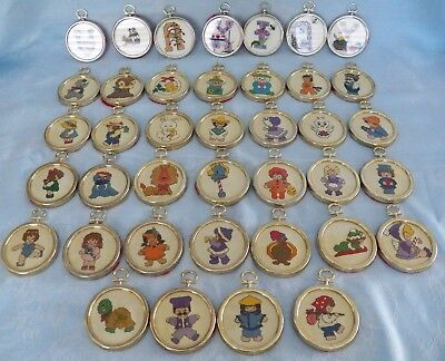 Counted Cross Stitch Lot of 39 Ornaments in Westex Gold & Silver Color Frames