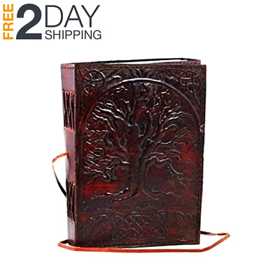 Vintage handmade leather journal diary notebook notepad sketchbook blank pages