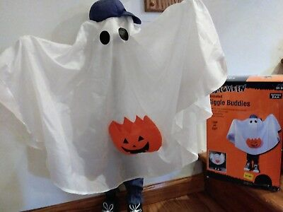 """Gemmy Motion Activated """"White Halloween Ghost"""" Giggle Buddies 33"""" Tall EUC"""