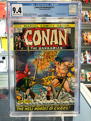 Conan The Barbarian #15 CGC 9.4 Off-White to White Pages Elric Appearance