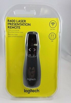 Logitech Wireless Presenter R400 for Powerpoint with Laser - USA Ship Fast Free