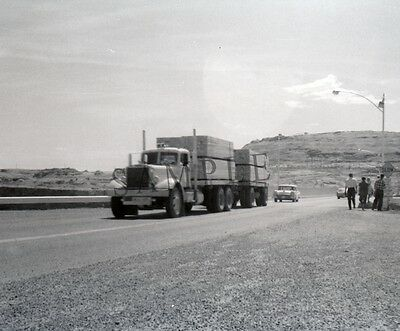 "1960's Mack Semi Truck hauling lumber out west Trucking 8""x 10"" Photo 32"