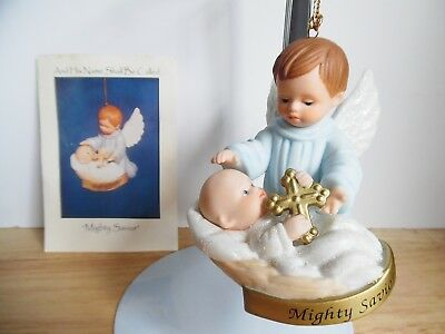 1998 Ashton-Drake Porcelain Ornament And His Name Shall Bee Called Mighty Savior