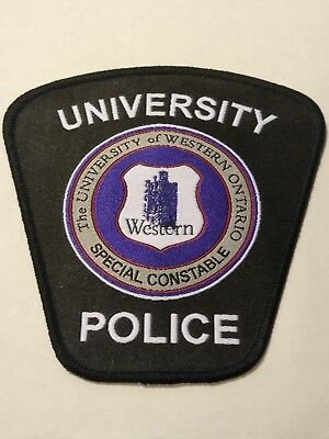University of Western Ontario Police Officers Official Uniform Patch