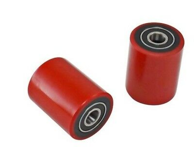 """Brand New Pallet Jack Load Wheels Pair with Bearings Poly Tread 2.75"""" x 3.75"""""""