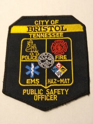 Bristol Tennessee Public Safety Officer Official Uniform Patch