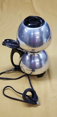 Vintage Cory Stainless Steel Vacuum Electric Automatic Coffee Pot Brewer ACB-2
