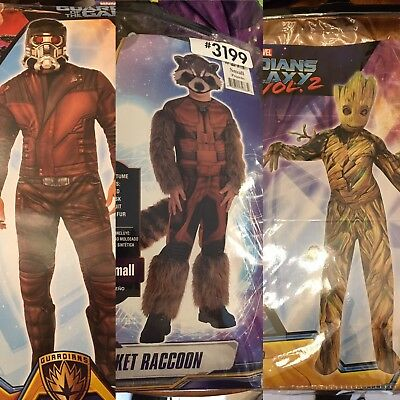 3 Guardians Of The Galaxy Costumes Star Lord Rocket And Groot