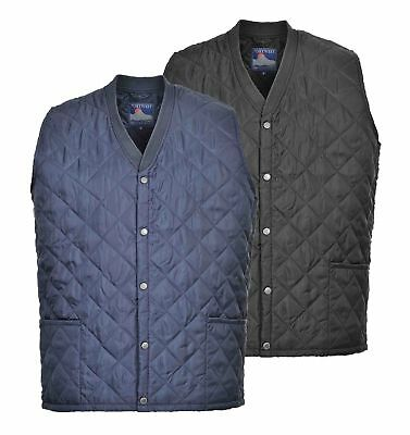 Kinross Quilted Bodywarmer Gilet Thermal Lined Padded BUTTON VEST Portwest S413