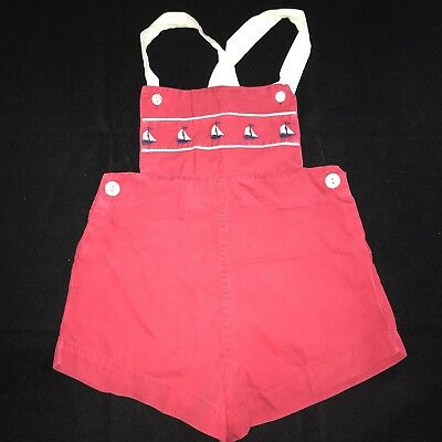 Vintage 50s 60s A-Lad-N' Togs Kids Clothes Shorts Overalls Size 3