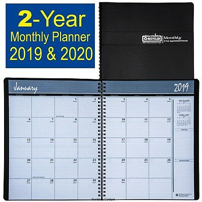2019 & 2020 HOD262002 House of Doolittle 2-Year Monthly Appt Planner 8-1/2 x11""