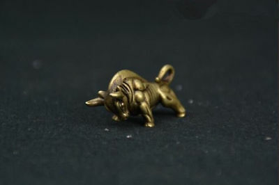 Pure brass Wall Street bull small statue