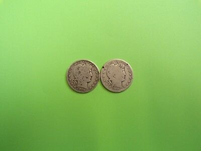 LQQK!  1915-D/1915-S Barber Half Dollars in AG/Good Condition