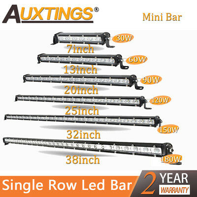 Super Mini 7'' 13'' 20'' 25''32'' 38'' inch Led Light Bar Single Row Work Lights