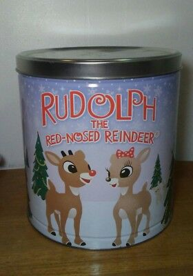 Rudolph the red nosed reindeer large 2011 popcorn expressions christmas tin