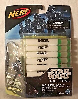 Nerf Glowstrike 14 Darts Star Wars Rogue One NEW Sealed Package