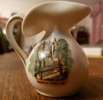 GEMMA Pictorial Crested China Baluster Jug ~ SHANKLIN CHINE  I.W. ISLE of WIGHT