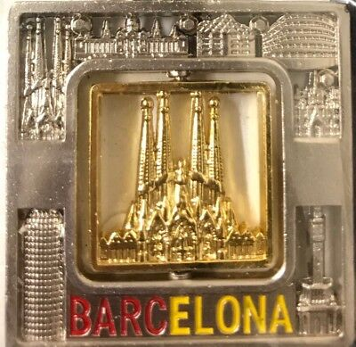 Barcelona Spain Cathedral Keychain Souvenir Brand New