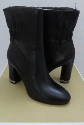 Michael Kors Dolores Bootie Leather 8M Black Brand New With Box