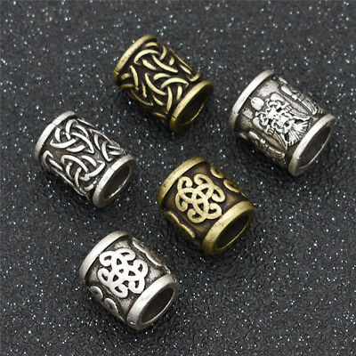 1 Pc Celtic Knot Viking Bead For Jewelry Marking DIY Hair Beard Necklace Bead