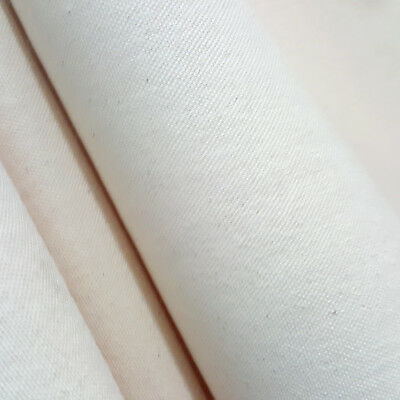 "NATURAL UNPRIMED COTTON CANVAS DUCK FABRIC 10 oz  - 60"" SINGLE OR MULTIPLE YARDS"