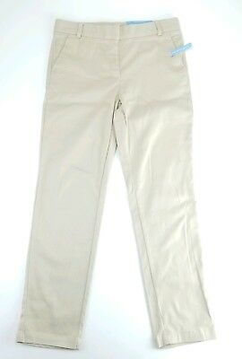 New Nautica Girls School Uniform Khaki 10.5 Plus Adjustable Waist Stretch Skinny