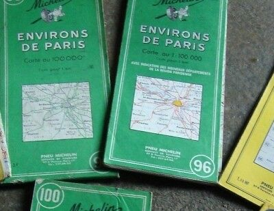 lot de  7  anciennes cartes routières MICHELIN  old road maps