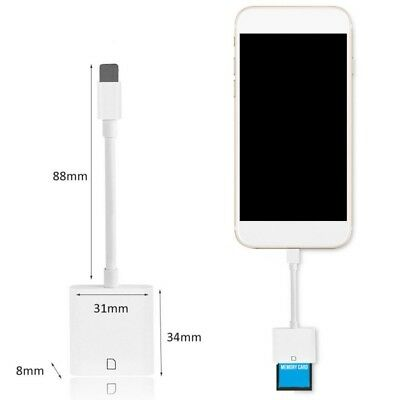 Lightning to SD-Card Camera Reader Adapter for iPhone 7/6/5/5S iPad Pro Air Mini