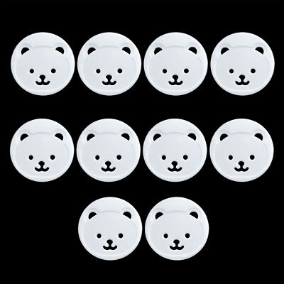 10Pcs Power Kids Socket Cover Baby Protector Guard Mains Point Plug Bear White