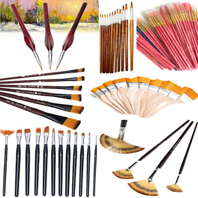 Paint Acrylic Nylon Painting Watercolour Brushes Paints Set Craft Artist Kit