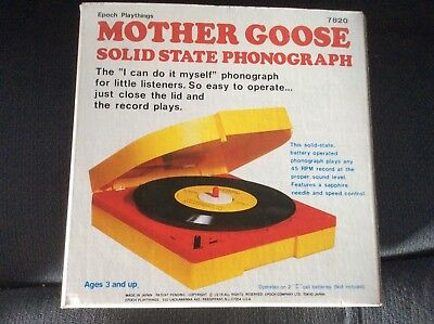 Mother Goose Vintage Solid State Phonograph— Record Player-