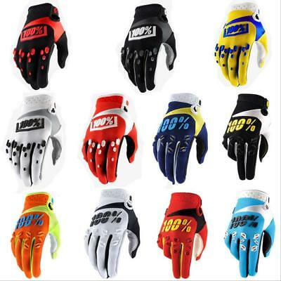 100% Full Finger Racing Motorcycle Gloves Cycling Bicycle MTB Bike Riding Gloves