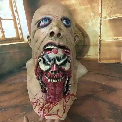 Halloween Scary Adult Bloody Zombie Latex Full Face Mask Horror Costume Cosplay