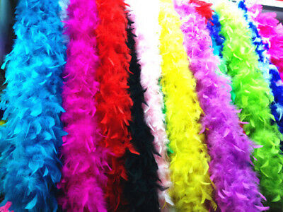 Deluxe 200cm Feather Boa Flapper Burlesque Fancy Dress Hen Party Accessories UK