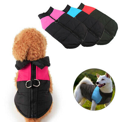 Waterproof Warm Winter Dog Coats Clothes Dog Padded Vest Pet Jacket Small/ Large