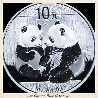 Frosty Gem 2009 1 Oz Chinese Silver Panda Coin .999 Pure 10 yuan