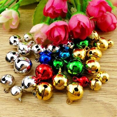 300PCS Mixed-color Small Charms Jingle Bells DIY Decoration For Jewelry Craft AU