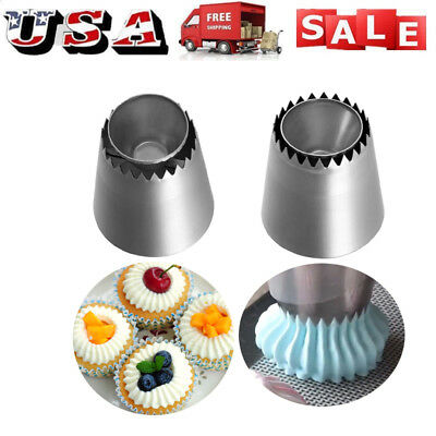 Russian Pastry DIY Flower Icing Piping Nozzles Cake Decor Tips Baking Tools USA