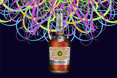 Ryan McGinness x Hennessy VS Collaboration Extremely Rare Limited Edition Bottle