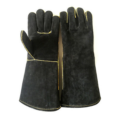 Welding Heat Resistant Gloves Baking Leather Grill Labour Protection Oven Mitt