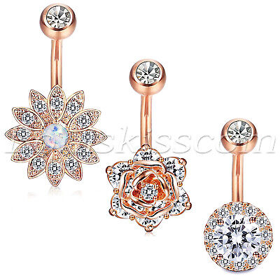 3pcs Charm Stainless Steel Belly Button Navel Ring Nails Body Piercing Jewelry