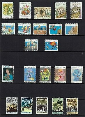 AUSTRALIA DECIMAL. STAMPS FROM   1990 to 1993..BULK COLLECTION...ALL DIFFERENT