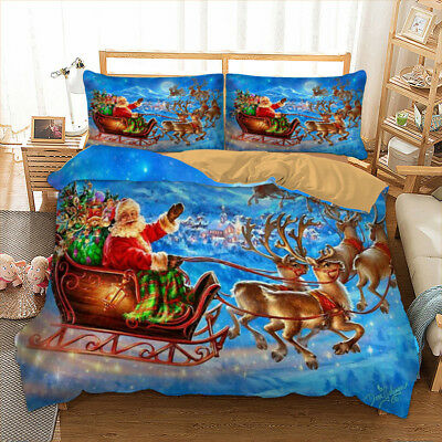 Twin Christmas Bedding Sets.Christmas Bedding Set Xmas Twin Full Queen King Duvet Cover Pillow Cases 3d