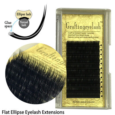9431732670b Flat Split Tips Ellipse Shaped Individual Eyelashes Extension False  Eyelashes