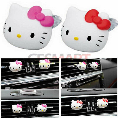 6PCS Hello Kitty Car Vehicle Air Freshener Perfume Diffuser Fragrance Clip
